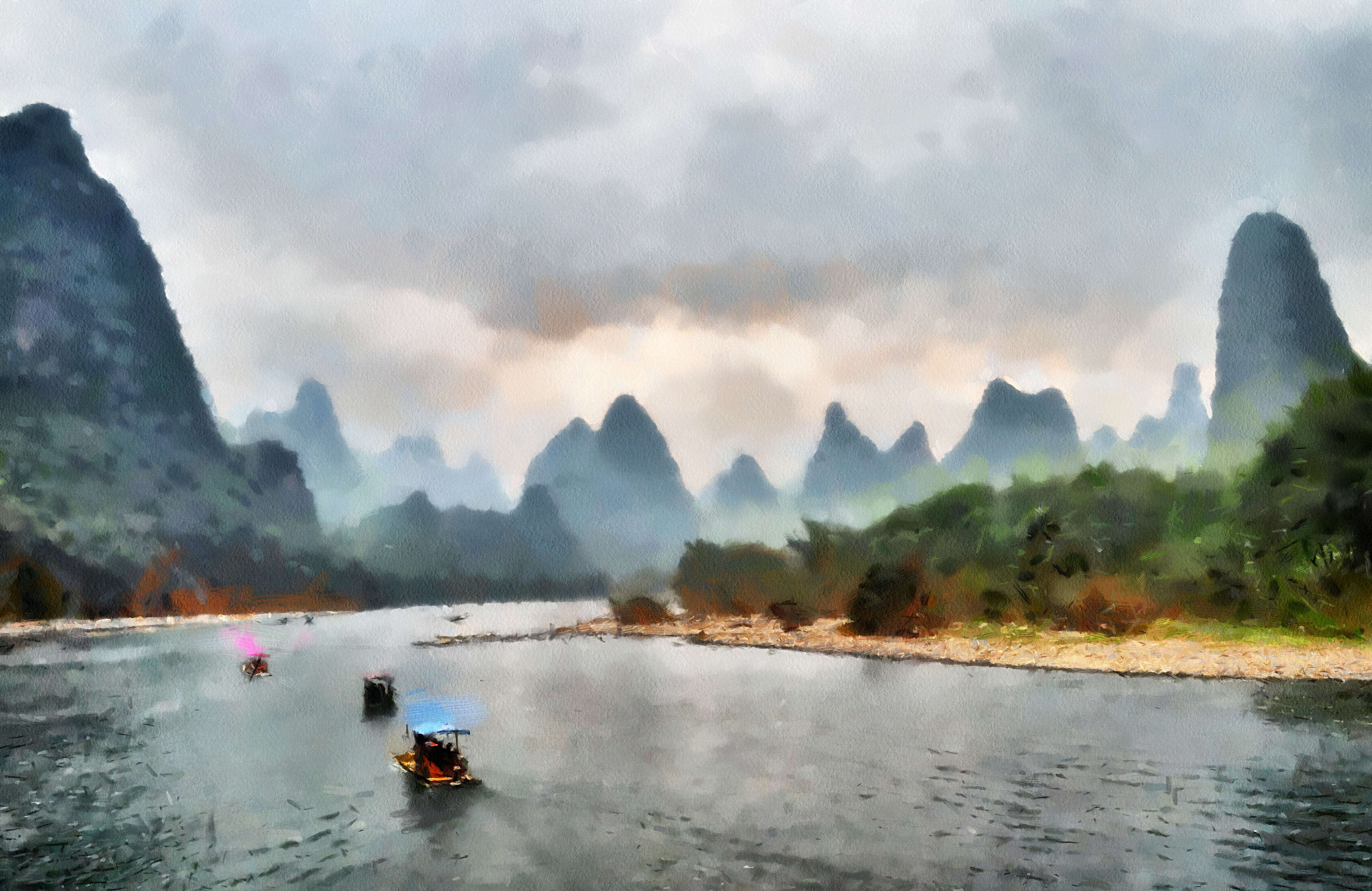 natue in chinese landscape painting